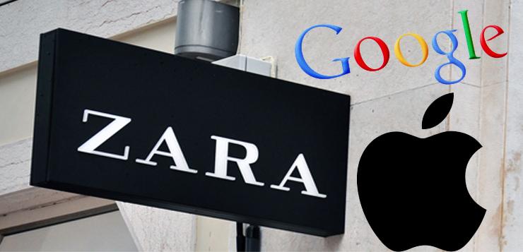 apple, inditex, google
