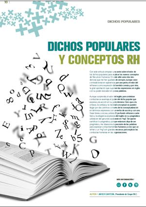 Dichos Populares Y Conceptos Rh Orh Observatorio De Recursos Humanos