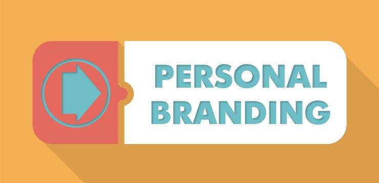 Personal Branding on Orange in Flat Design.