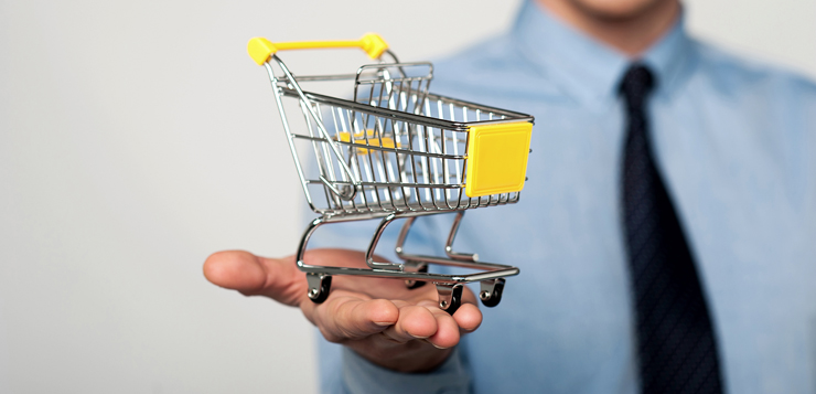 Add to cart, e-commerce concept.