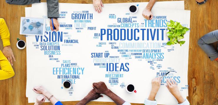 La productividad aumenta si el empleado está satisfecho con su trabajo.
