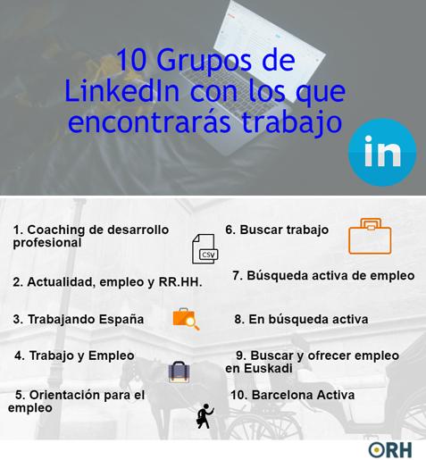 10 grupos para encontrar trabajo linkedin