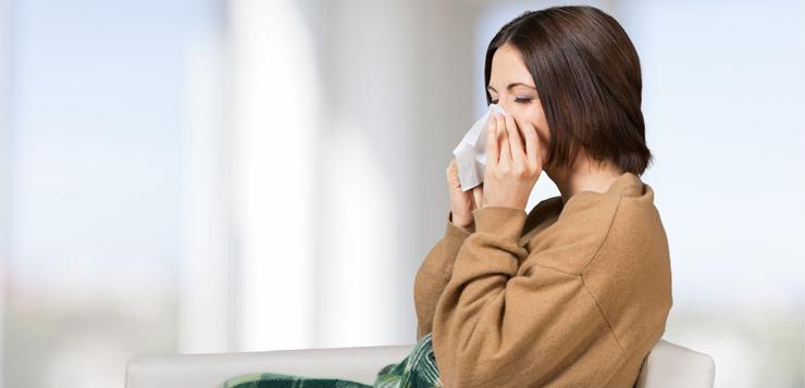 42650630 - flu, cold, woman.
