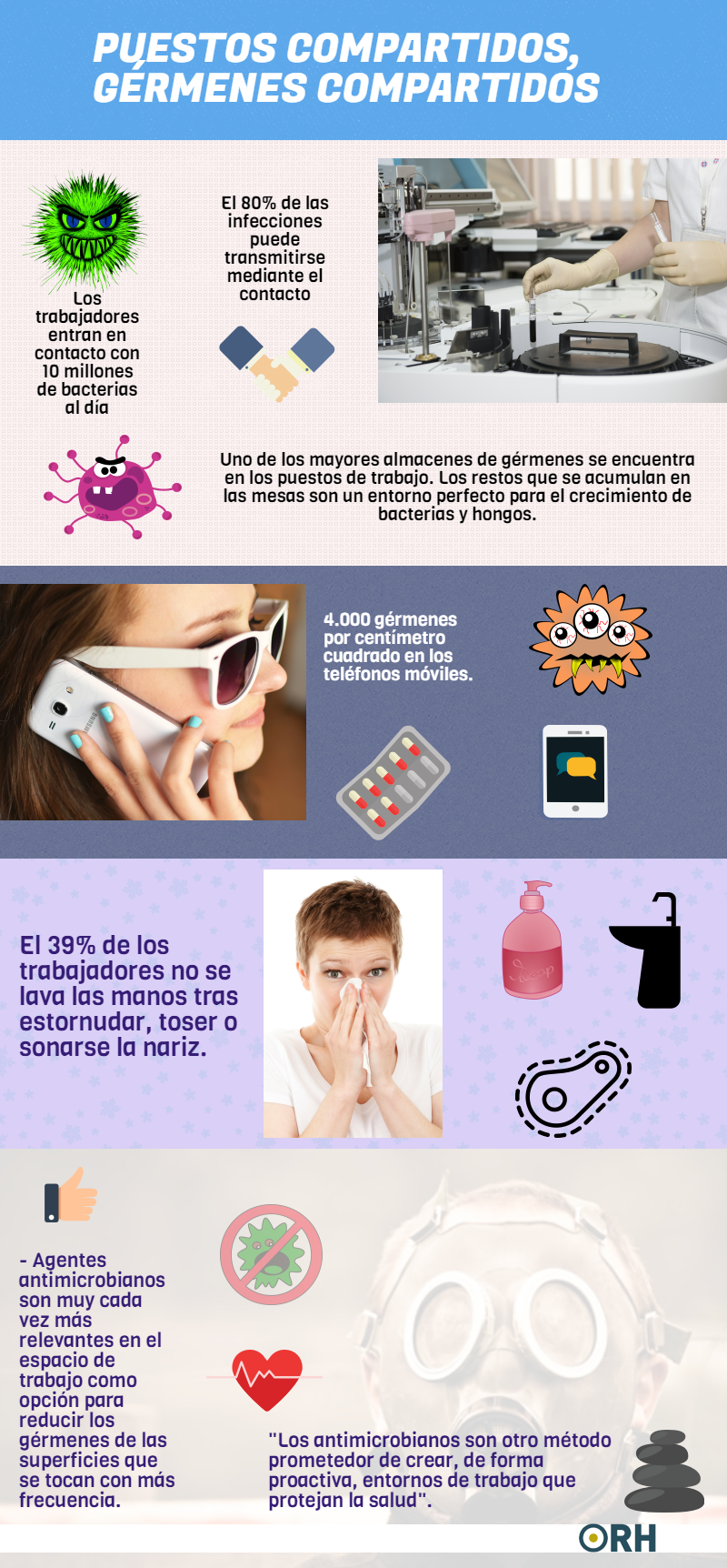 infografia germenes y bacterias
