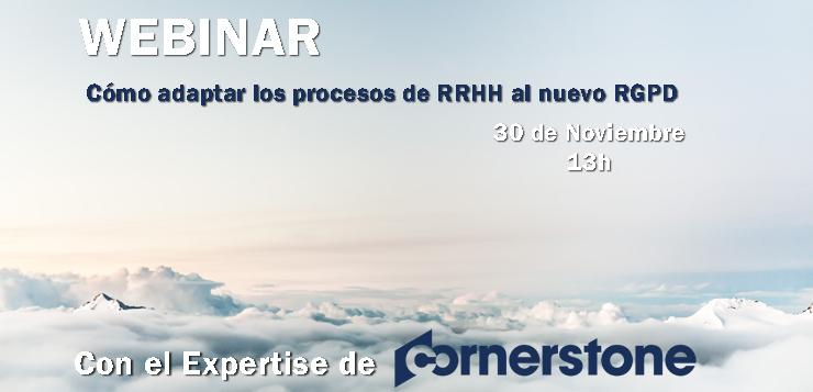 WEBINAR. Cómo adaptar los procesos de RRHH al nuevo RGPD