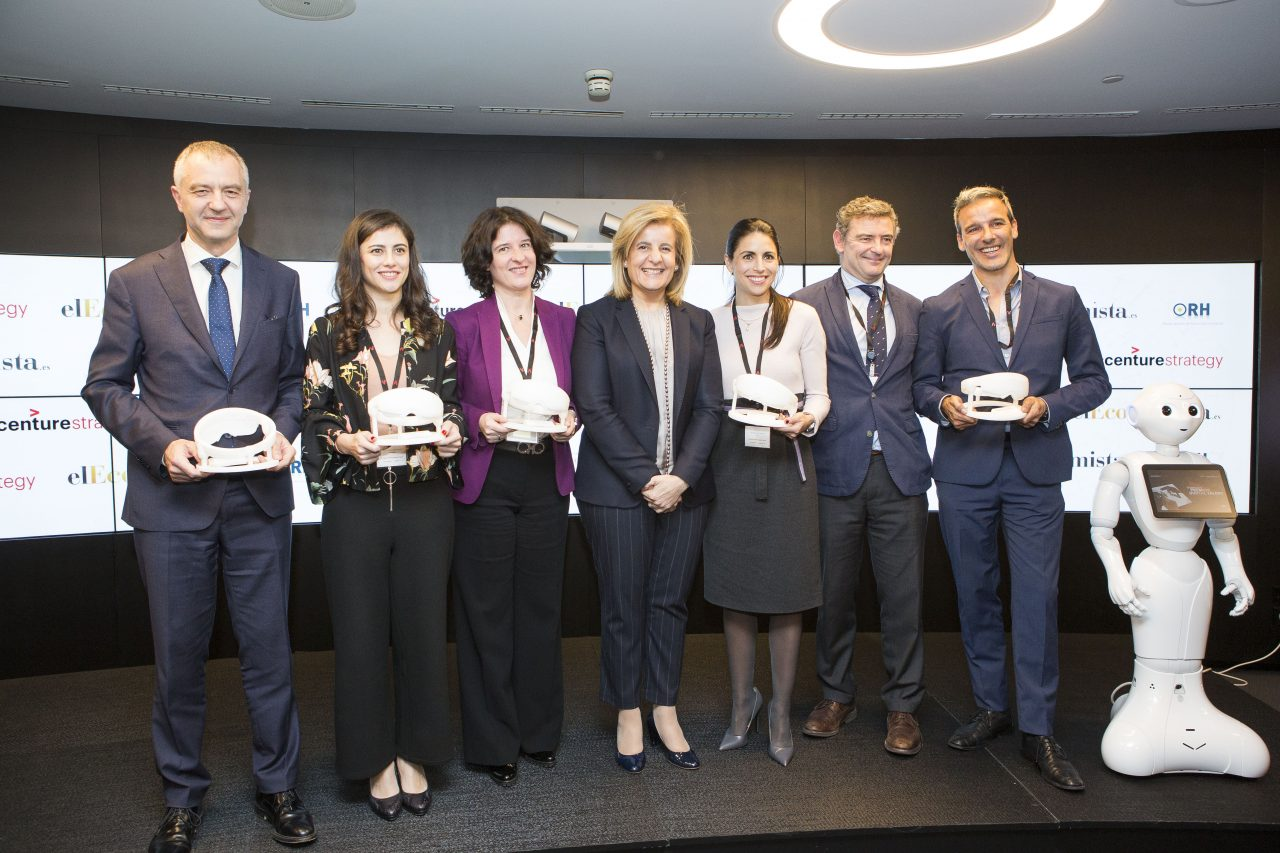 Foto de familia de los II Premios Digital Talent.