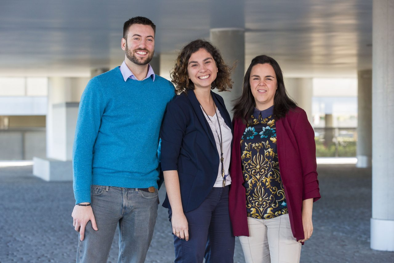 El equipo de HR analytics de Verisure Securitas Direct al completo: Ana Valera, Nieves Cano e Ignacio Jiménez.