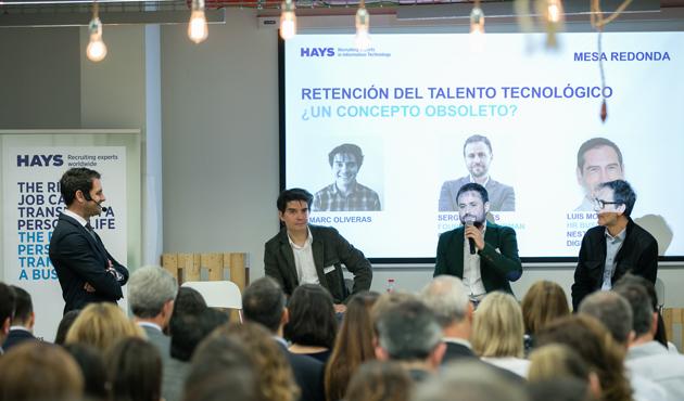 Marc Oliveras, de Tiendeo, Sergio Cortés de Cink, y Luis Moreno de Nestlé