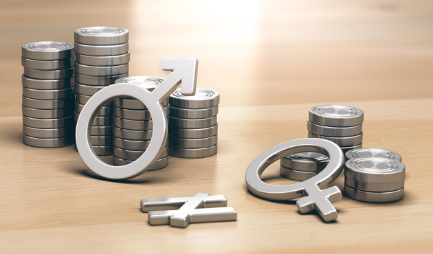 Feminism concept. Gender Pay Gap for Work of Equal Value
