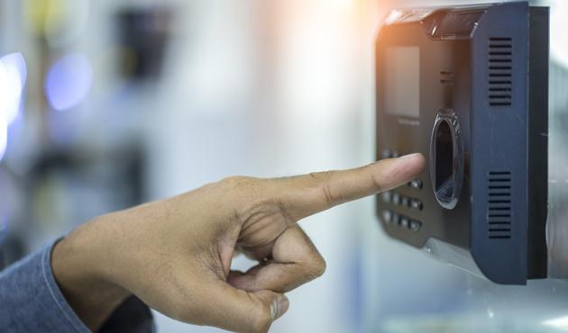 hand scanning finger on machine