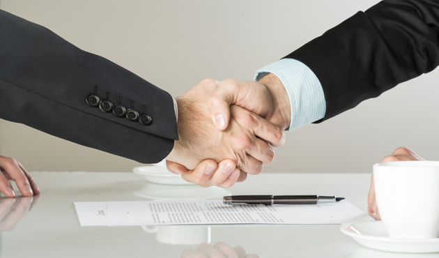 20208494 - businessmen are signing a contract, business contract details